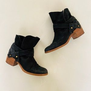 UGG Charcoal Suede Ankle Boots 7.5